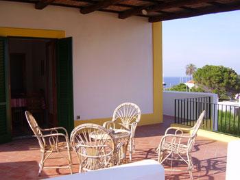 Terrazzo casa vacanza a Salina